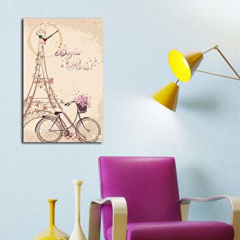 Tablou decorativ cu ceas Clockity, 248CTY1651, Multicolor