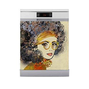 Sticker decorativ pentru masina de spalat vase Fun in Kitchen, 748FUK1410, Multicolor de la Fun in Kitchen