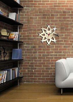 Ceas de perete decorativ Desire, 234DSR1549, Argintiu de la Desire