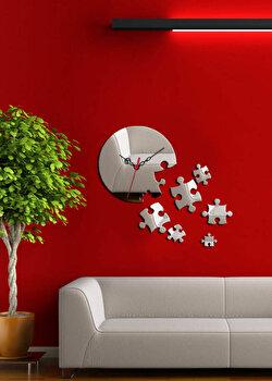 Ceas de perete decorativ Desire, 234DSR1529, Argintiu