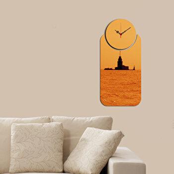 Ceas decorativ de perete (2 Piese) Home Art, 238HMA5104, Multicolor de la Home Art