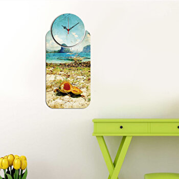 Ceas decorativ de perete (2 Piese) Home Art, 238HMA5110, Multicolor de la Home Art