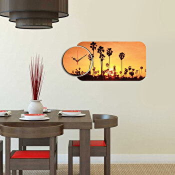 Ceas decorativ de perete (2 Piese) Home Art, 238HMA5126, Multicolor de la Home Art