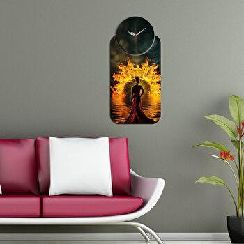 Ceas decorativ de perete (2 Piese) Home Art, 238HMA5135, Multicolor de la Home Art