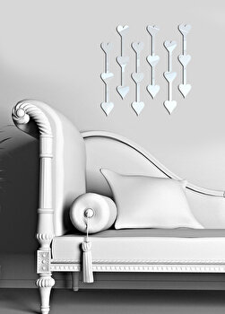 Oglinda decorativa Desire, 234DSR1184, Argintiu