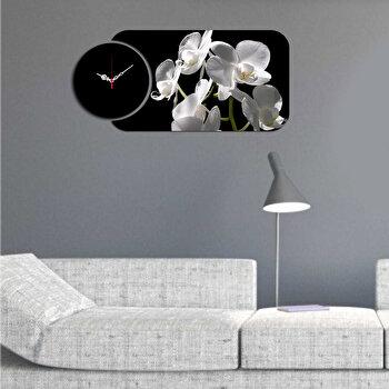 Ceas decorativ de perete (2 Piese) Home Art, 238HMA5150, Multicolor de la Home Art