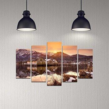 Tablou decorativ 5 Piese, Melody, 232MLD2943, Multicolor de la Melody