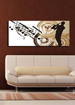 Tablou decorativ cu ceas Clock Art, 228CLA1634, Multicolor