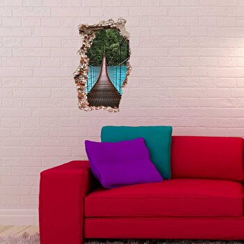 Sticker decorativ pentru perete Wall 3D, 259DWL1044, Multicolor de la Wall 3D
