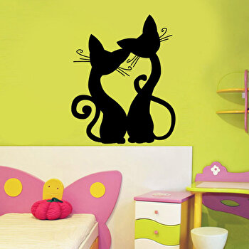 Sticker decorativ de perete Pushy, 246PHY5086, Negru de la Pushy