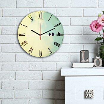 Ceas decorativ de perete Home Art, 238HMA6142, Multicolor