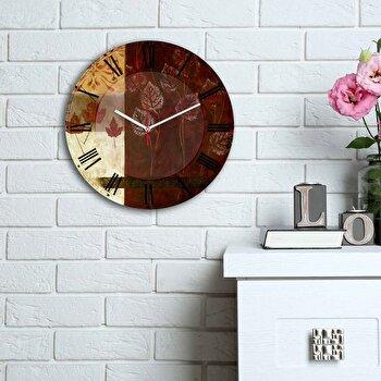 Ceas decorativ de perete Home Art, 238HMA6154, Multicolor