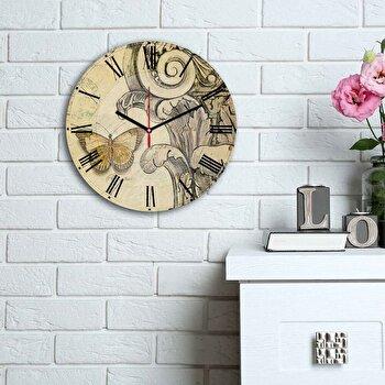 Ceas decorativ de perete Home Art, 238HMA6160, Multicolor de la Home Art