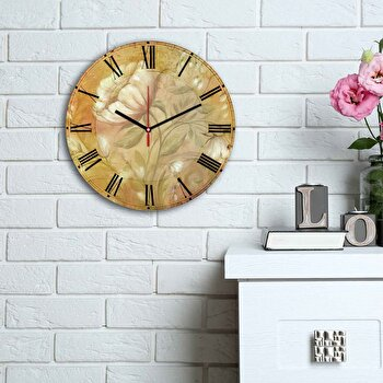 Ceas decorativ de perete Home Art, 238HMA6176, Multicolor