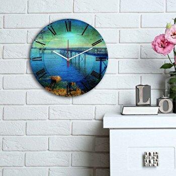 Ceas decorativ de perete Home Art, 238HMA6115, Multicolor de la Home Art