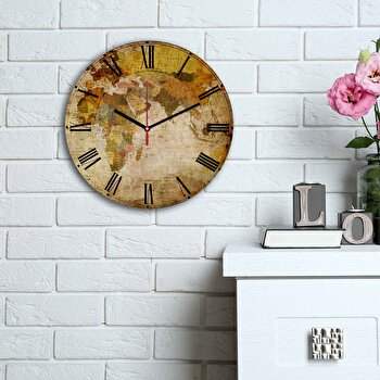 Ceas decorativ de perete Home Art, 238HMA6116, Multicolor