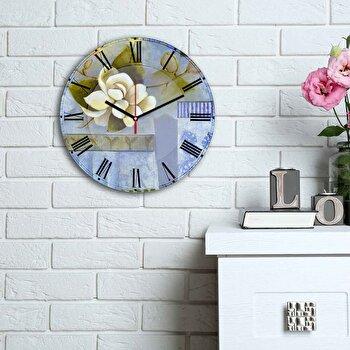 Ceas decorativ de perete Home Art, 238HMA6148, Multicolor
