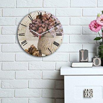 Ceas decorativ de perete Home Art, 238HMA6149, Multicolor