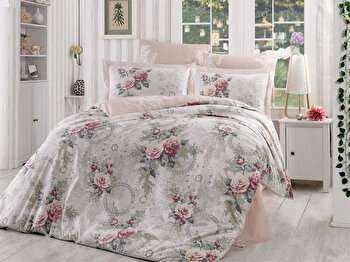 Lenjerie dubla de pat, Hobby, 113HBY2458, Multicolor de la Hobby