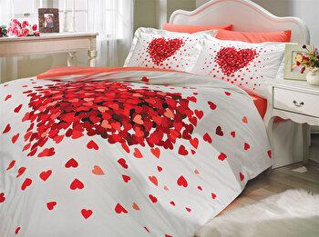 Lenjerie dubla de pat, Hobby, 113HBY2239, Multicolor de la Hobby
