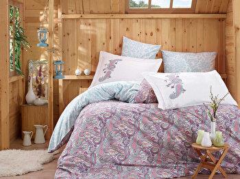 Lenjerie dubla de pat, Hobby, 113HBY2646, Multicolor