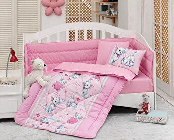 Lenjerie de pat pentru copii, Cotton Box, 129CTN5046, Multicolor