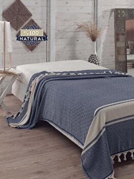 Cuvertura de pat, Eponj Home, 143EPJ9654, 100 procente bumbac, 200 x 240 cm, Multicolor de la Eponj Home