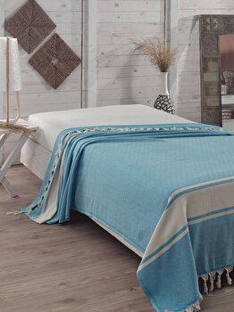 Cuvertura de pat, Eponj Home, 143EPJ9006, 100 procente bumbac, 200×240 cm, Multicolor de la Eponj Home