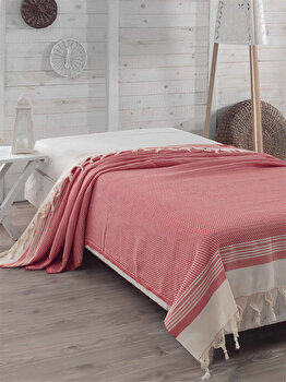 Cuvertura de pat, Eponj Home, 143EPJ9014, 100 procente bumbac, 200×240 cm, Multicolor de la Eponj Home