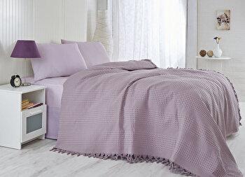 Cuvertura de pat, Saheser, 157SHS5204, Mov de la Saheser