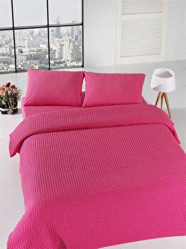 Cuvertura de pat, Eponj Home, 143EPJ5607, Roz de la Eponj Home