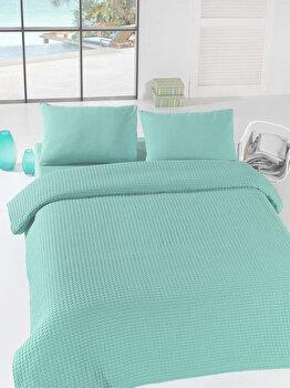 Cuvertura de pat, Eponj Home, 143EPJ5609, Albastru de la Eponj Home