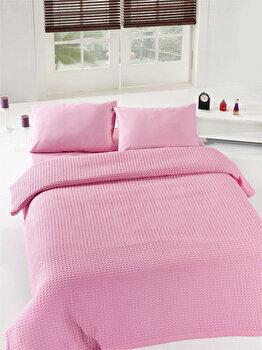 Cuvertura de pat, Eponj Home, 143EPJ5611, Roz