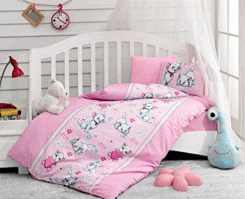 Lenjerie de pat pentru copii, Cotton Box, 129CTN2094, Multicolor de la Cotton Box