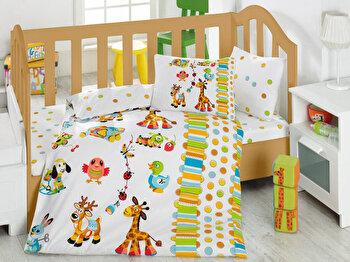 Lenjerie de pat pentru copii, Cotton Box, 129CTN2048, Multicolor de la Cotton Box