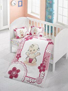 Lenjerie de pat pentru copii, Victoria, 121VCT2012, Multicolor