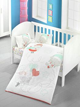Lenjerie de pat pentru copii, Victoria, 121VCT2011, Multicolor de la Victoria