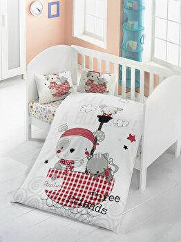Lenjerie de pat pentru copii, Victoria, 121VCT2013, Multicolor de la Victoria