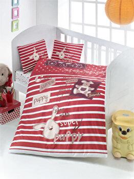 Lenjerie de pat pentru copii, Victoria, 121VCT2004, Multicolor de la Victoria