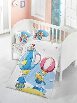 Lenjerie de pat pentru copii, Victoria, 121VCT2016, Multicolor de la Victoria