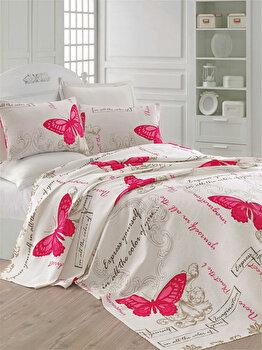 Cuvertura de pat, Eponj Home, 143EPJ5624, 100 procente bumbac, 200×235 cm, Multicolor de la Eponj Home