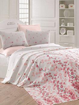 Cuvertura de pat, Eponj Home, 143EPJ5625, 100 procente bumbac, 200×235 cm, Multicolor de la Eponj Home
