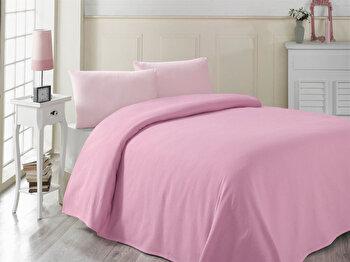 Cuvertura de pat, Victoria, 121VCT5238, 200×230 cm, Roz de la Victoria