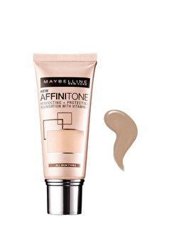 Fond de ten Maybelline New York Affinitone 30 Sand Beige, 30 ml de la Maybelline