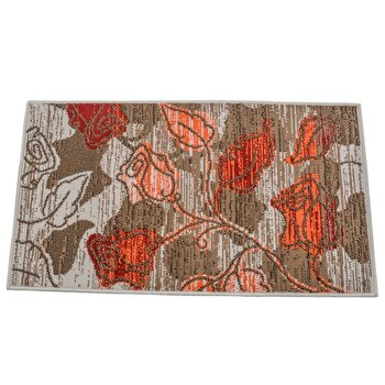Covor Decorino Floral C05-020133, Maro/Bej/Portocaliu, 60×110 cm de la Decorino