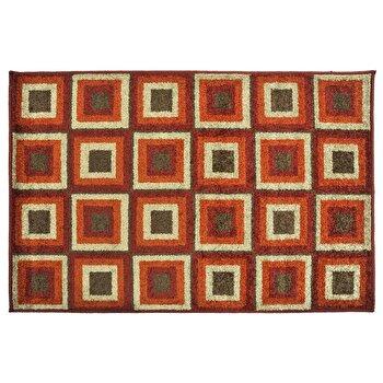 Covor Decorino Modern & Geometric C23-030607, Portocaliu/Maro/Bej, 100x150 cm
