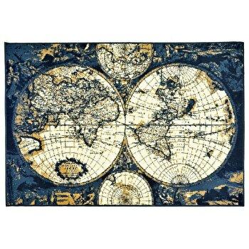 Covor Decorino Copii & Tineret C03-020120, Albastru/Crem, 120×170 cm de la Decorino