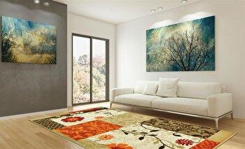 Covor Decorino Patchwork C05-020130, Maro/Bej/Portocaliu, 60×110 cm de la Decorino