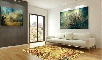 Covor Decorino Modern & Geometric C97-030211, Bej/Maro/Rosu/Verde, 160×235 cm de la Decorino