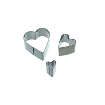 Set 3 forme/cutter pentru decoratiuni din martipan Kitchen Craft, SDICUTHRT3PC de la Kitchen Craft
